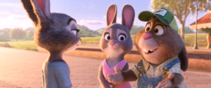 ZOOTOPIA ??Pictured (L-R): Judy, Bonnie, and Stu Hopps. ?2016 Disney. All Rights Reserved.